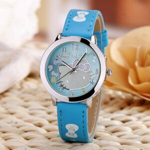 Montre hello kitty bleu