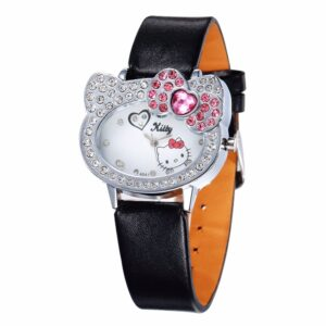 montre hello kitty en cuir