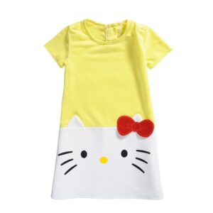 Robe hello kitty jaune