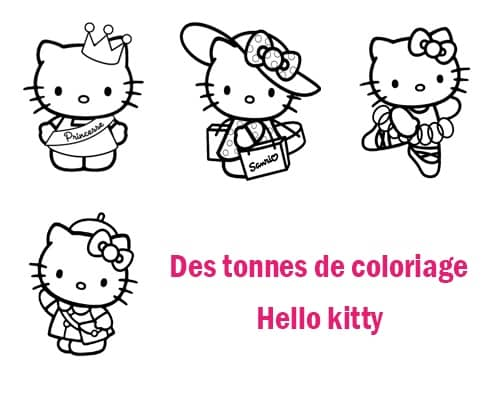 des dessin hello kitty