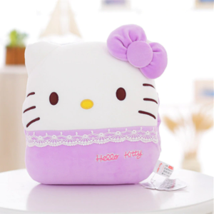 Peluche hello kitty coussin violet